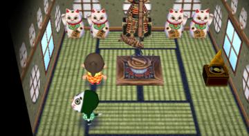 Interior of Marcel's house in Animal Crossing: City Folk