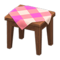 Wooden Mini Table (Dark Wood - Pink) NH Icon.png