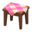 Wooden Mini Table (Dark Wood - Pink)