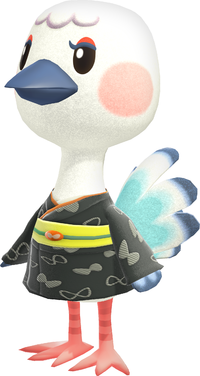 Blanche, an Animal Crossing villager.
