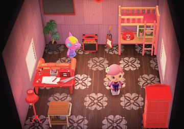 Interior of Fuchsia's house in Animal Crossing: New Horizons