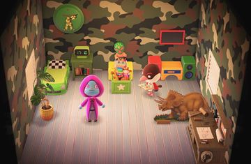 Interior of Peck's house in Animal Crossing: New Horizons