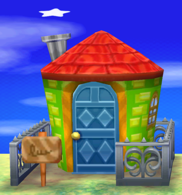 Exterior of Phil's house in Animal Crossing: New Leaf