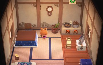 Interior of Wart Jr.'s house in Animal Crossing: New Horizons