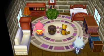 Interior of Whitney's house in Animal Crossing: City Folk