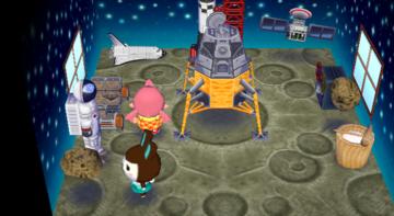 Interior of Carmen's house in Animal Crossing: City Folk