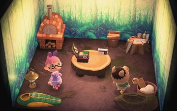 Interior of Spork's house in Animal Crossing: New Horizons
