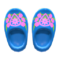 Wooden Clogs (Blue) NH Icon.png