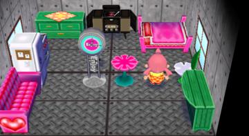 Interior of Bella's house in Animal Crossing: City Folk