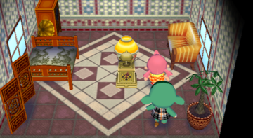 Interior of Opal's house in Animal Crossing: City Folk