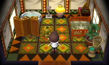 Interior of Soleil's house in Animal Crossing: New Leaf