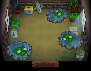 Interior of Wart Jr.'s house in Animal Crossing