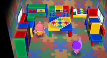Interior of Bob's house in Animal Crossing: City Folk