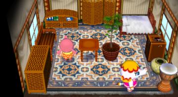Interior of Margie's house in Animal Crossing: City Folk