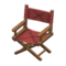Director's Chair (Dark Brown - Chic Pleather) NH Icon.png