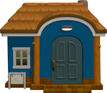 Exterior of Derwin's house in Animal Crossing: New Horizons