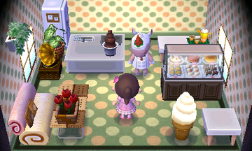 Interior of Merengue's house in Animal Crossing: New Leaf