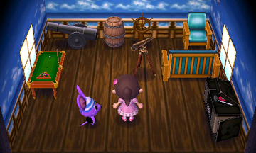 Interior of Rod's house in Animal Crossing: New Leaf